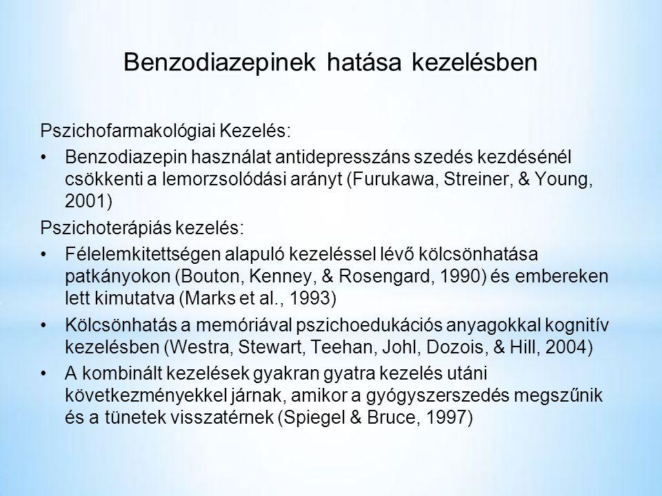 Benzodiazepinek hatása kezelésben