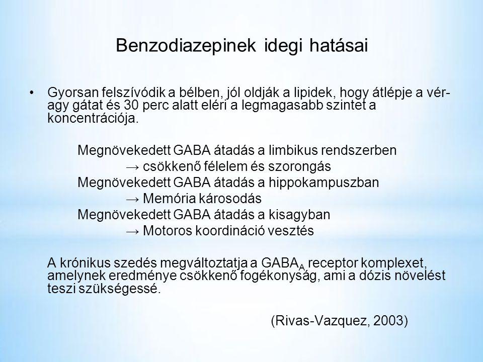 Benzodiazepinek idegi hatásai