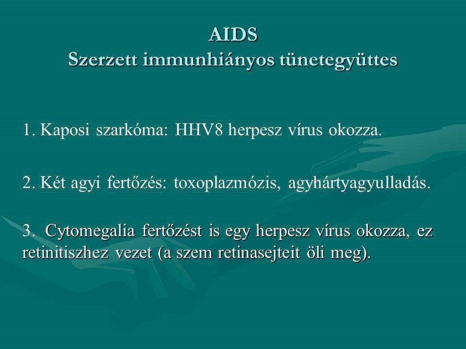 AIDS Szerzett immunhiányos tünetegyüttes