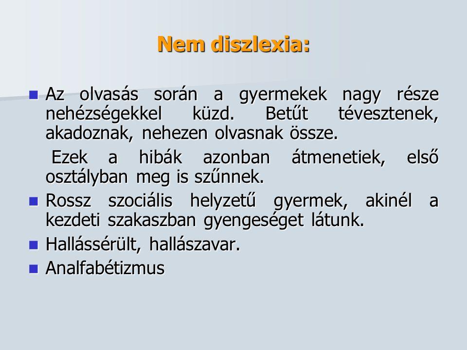 Nem diszlexia: Az olvasás során a gyermekek nagy része nehézségekkel küzd. Betűt tévesztenek, akadoznak, nehezen olvasnak össze.