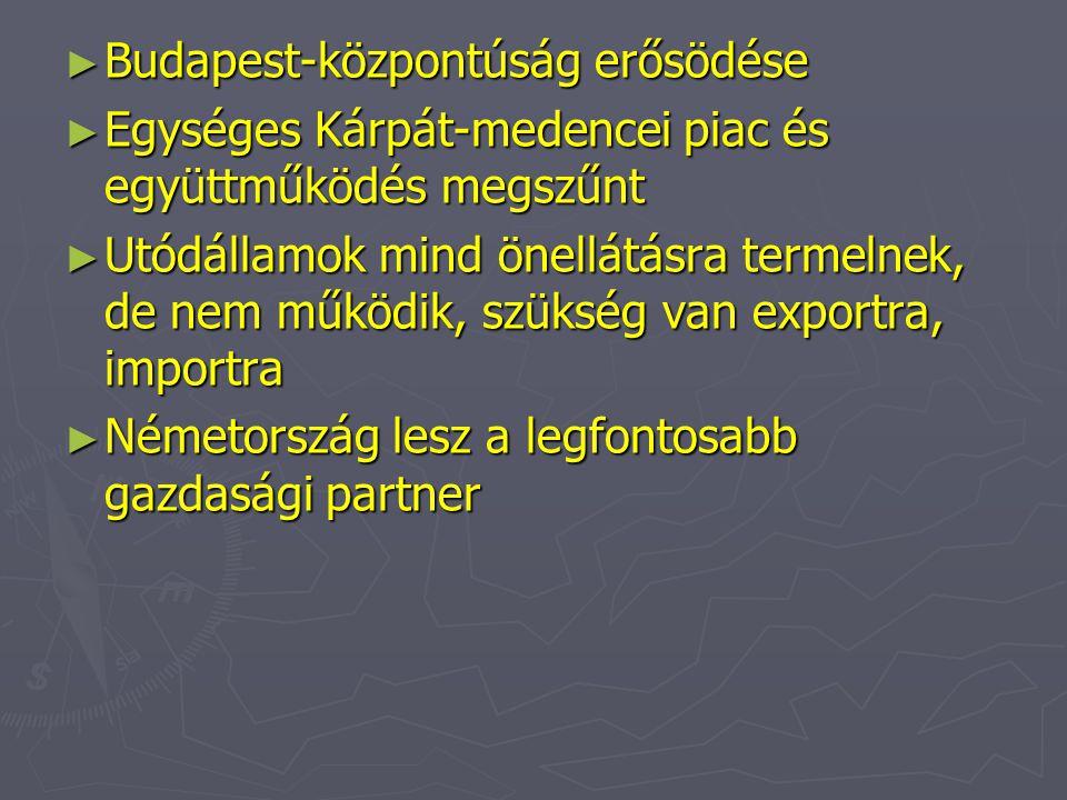 Budapest-központúság erősödése