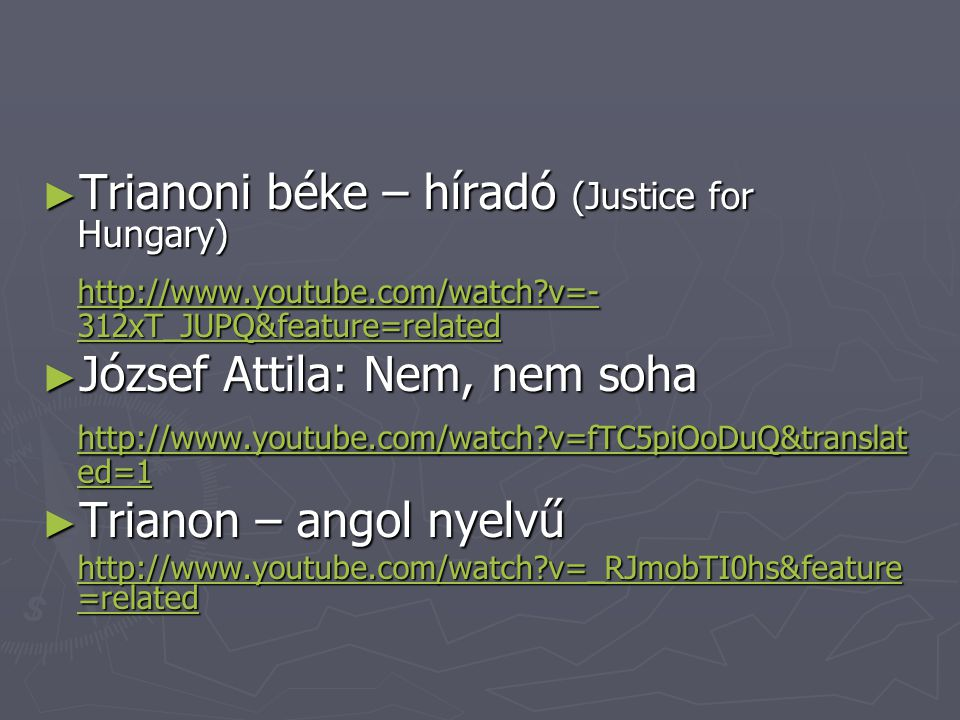 Trianoni béke – híradó (Justice for Hungary)
