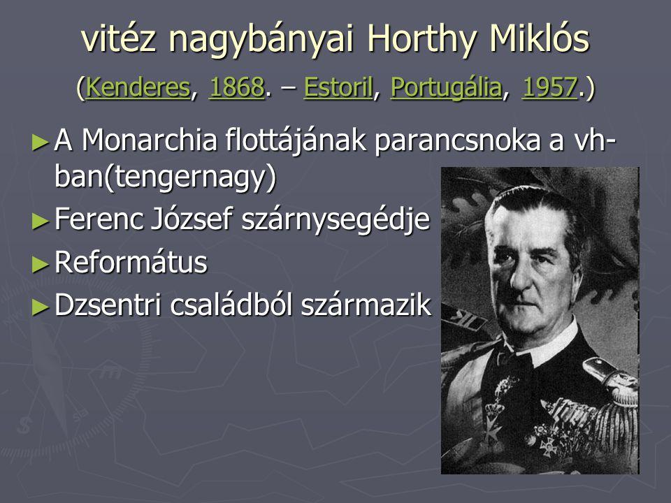 vitéz nagybányai Horthy Miklós (Kenderes, 1868