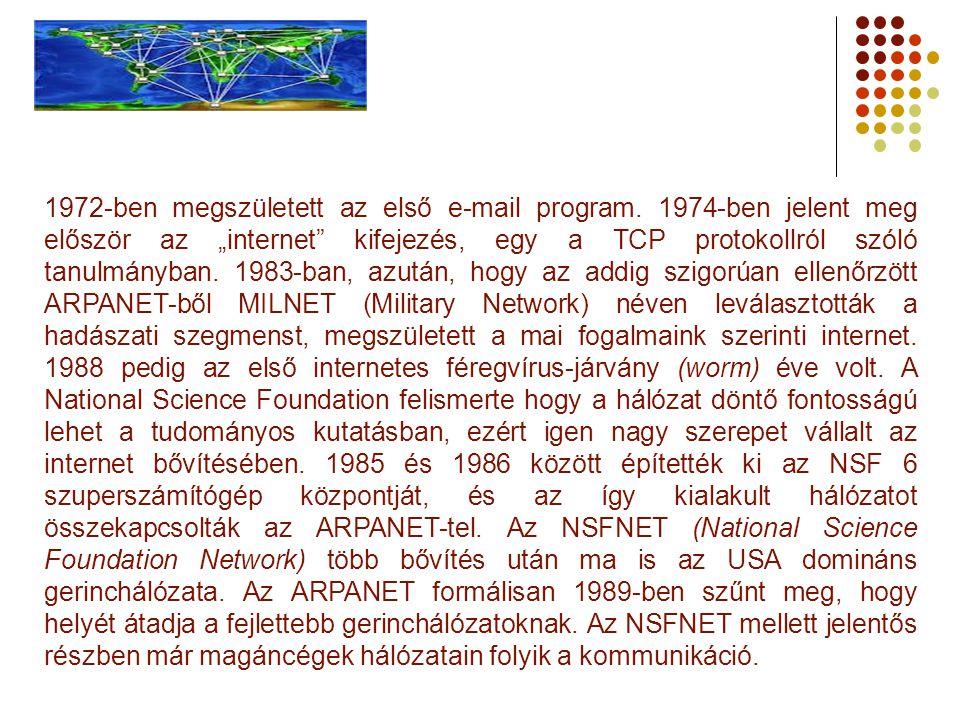 1972-ben megszületett az első e-mail program