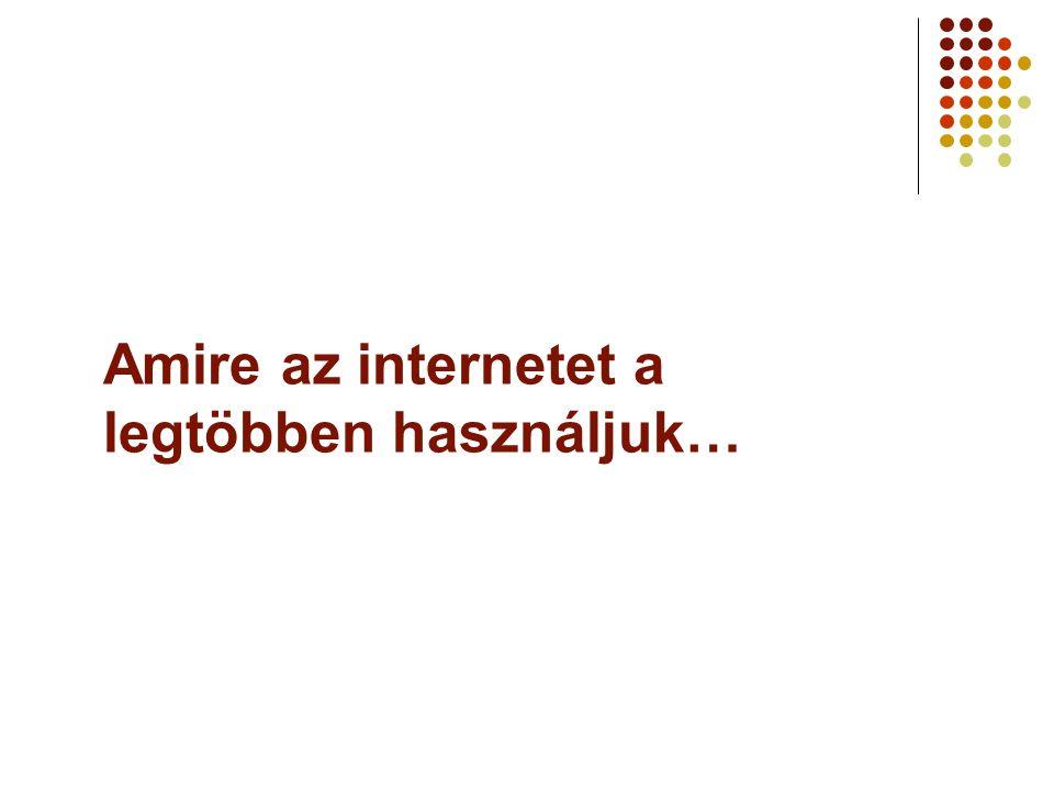 Amire az internetet a legtöbben használjuk…