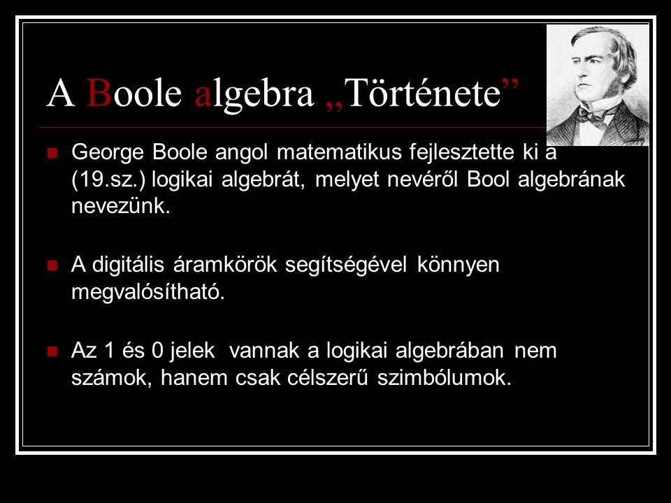 """A Boole algebra """"Története"""