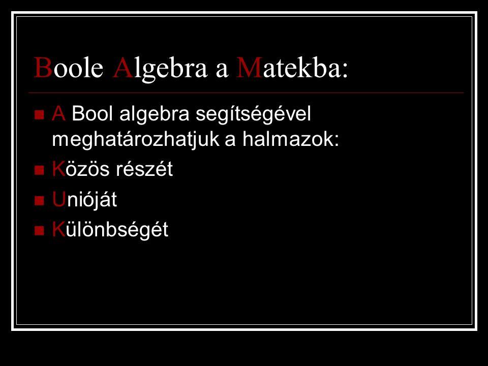 Boole Algebra a Matekba: