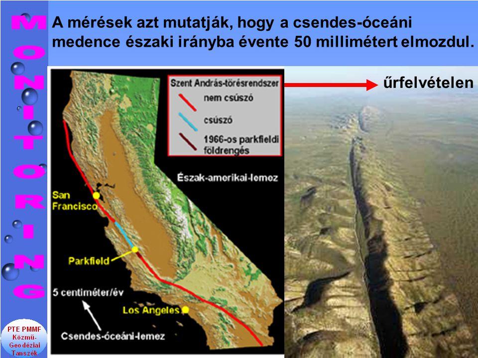 A mérések azt mutatják, hogy a csendes-óceáni medence északi irányba évente 50 millimétert elmozdul.