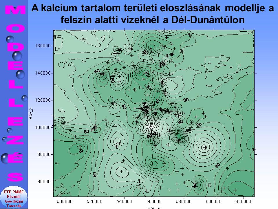 A kalcium tartalom területi eloszlásának modellje a felszín alatti vizeknél a Dél-Dunántúlon