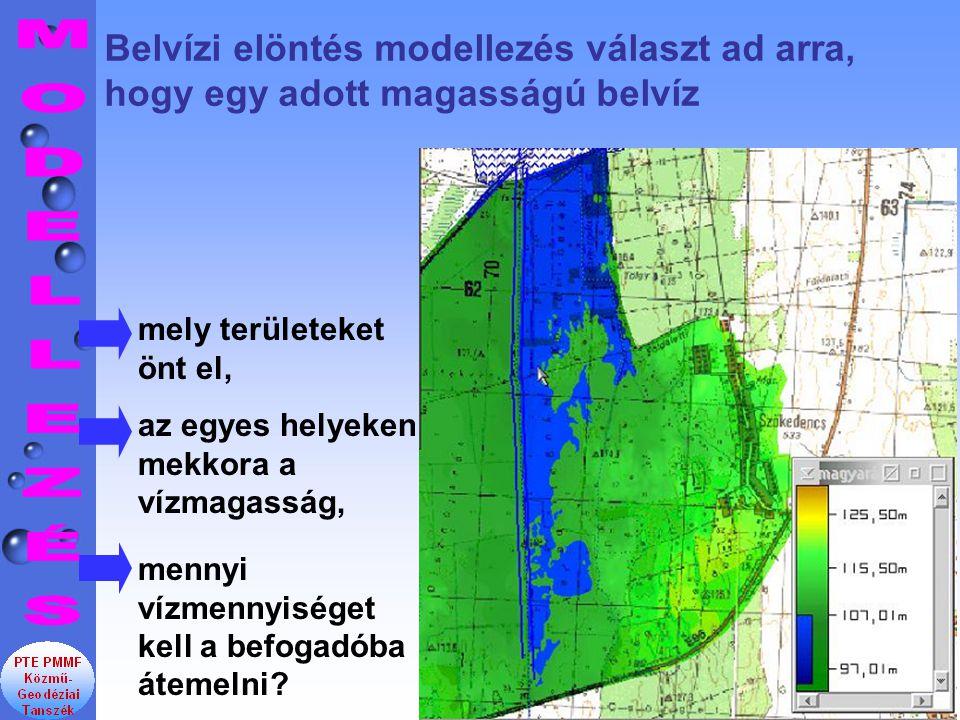 Belvízi elöntés modellezés választ ad arra, hogy egy adott magasságú belvíz