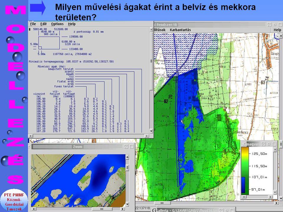 Milyen művelési ágakat érint a belvíz és mekkora területen