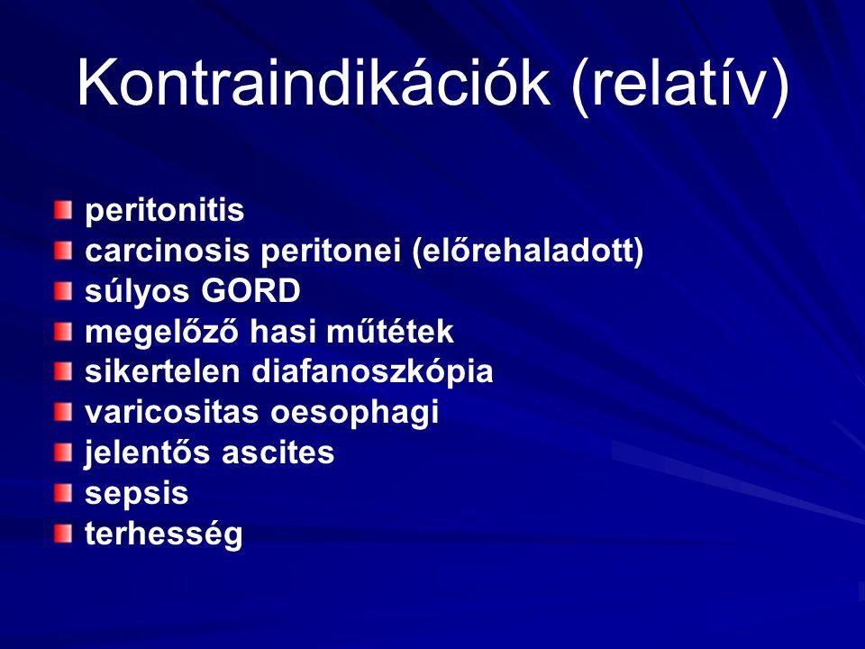 Kontraindikációk (relatív)