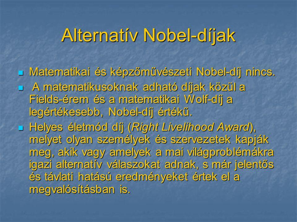 Alternatív Nobel-díjak