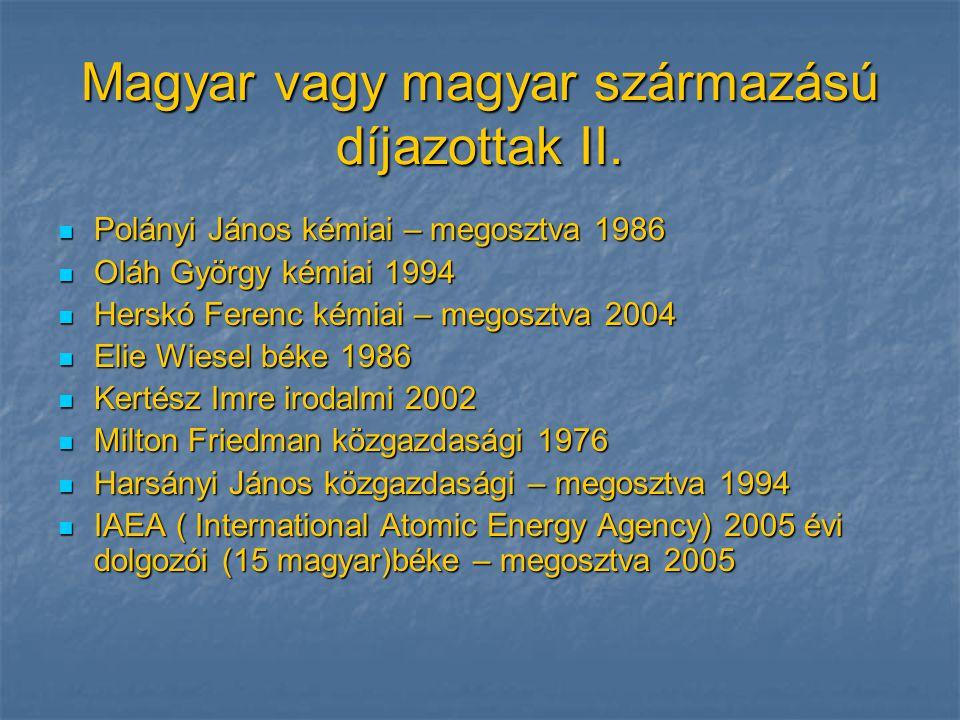 Magyar vagy magyar származású díjazottak II.