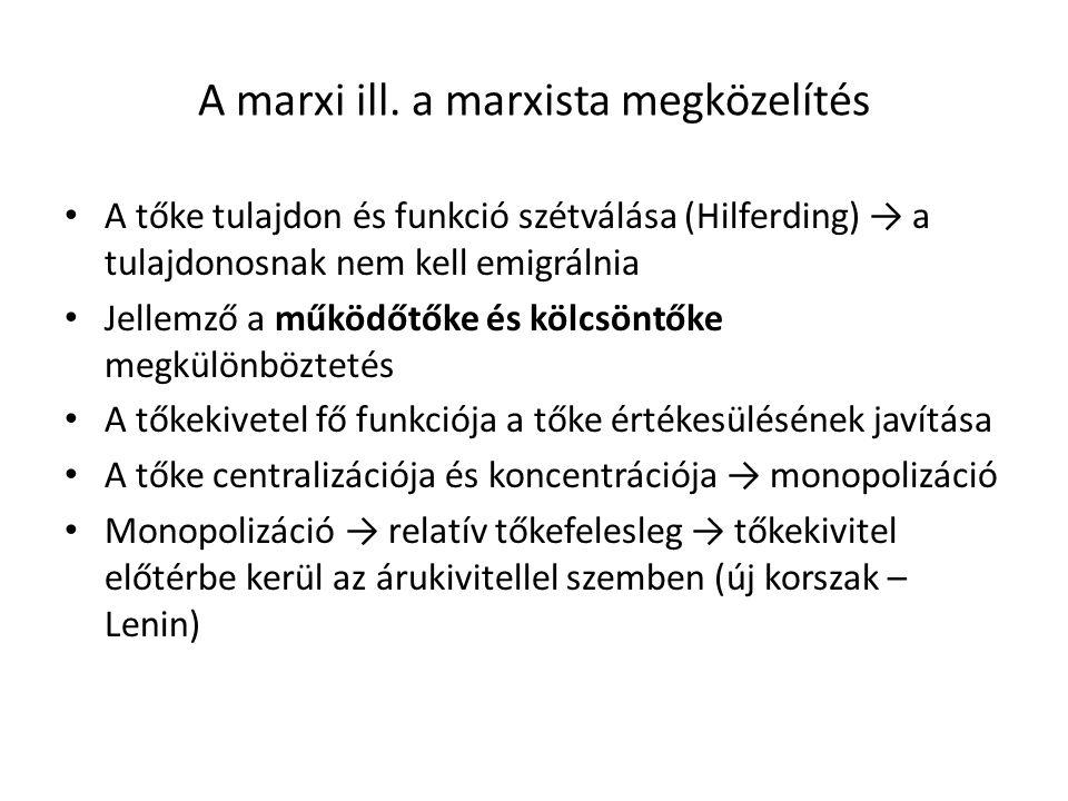 A marxi ill. a marxista megközelítés