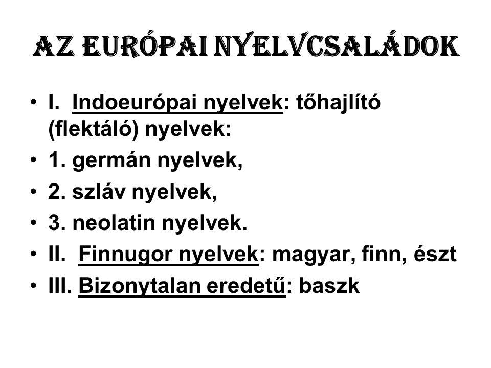 Az európai nyelvcsaládok