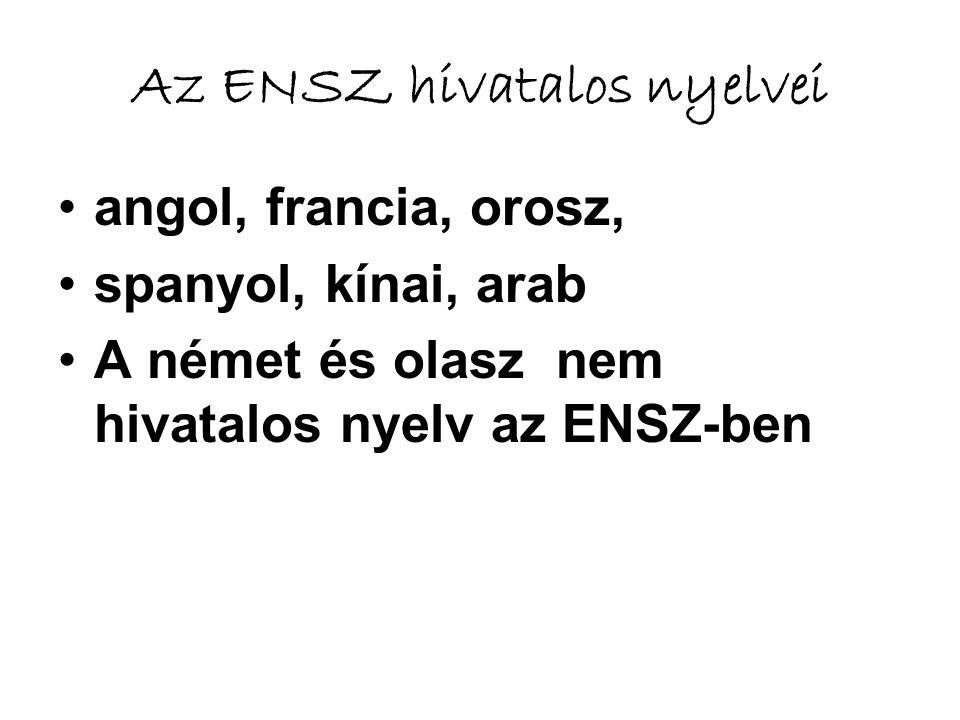 Az ENSZ hivatalos nyelvei