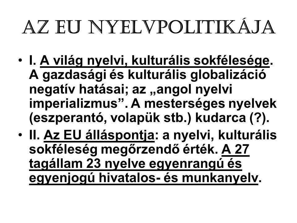 Az EU nyelvpolitikája