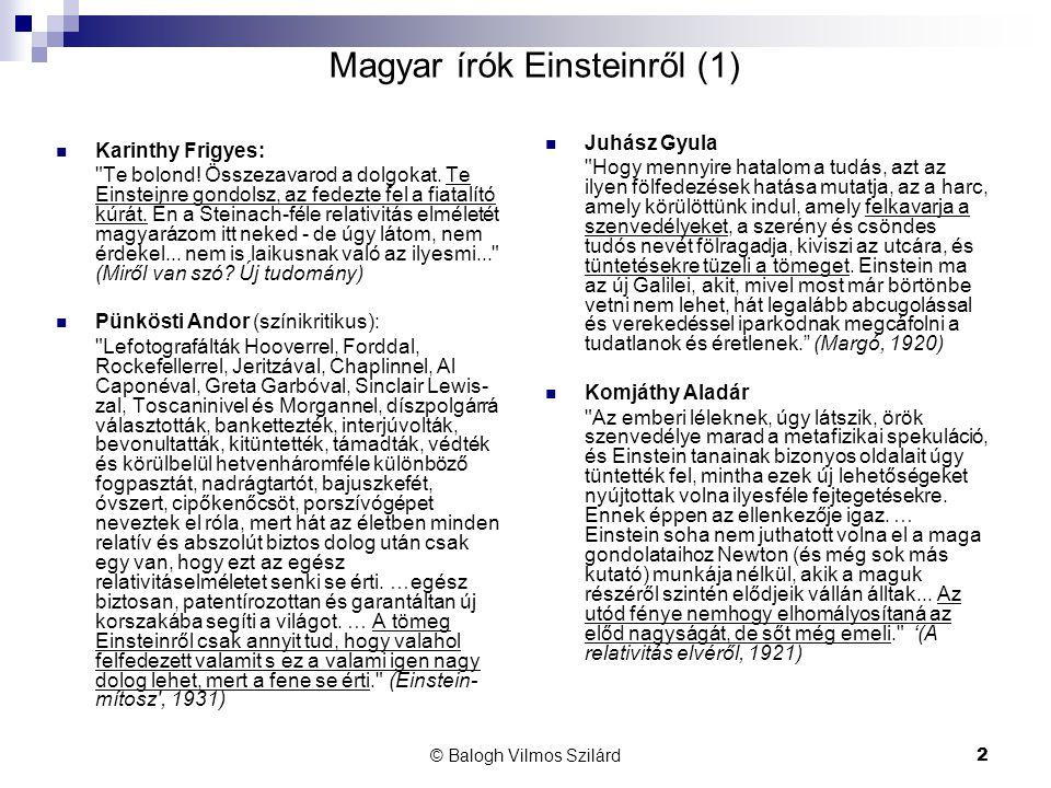 Magyar írók Einsteinről (1)