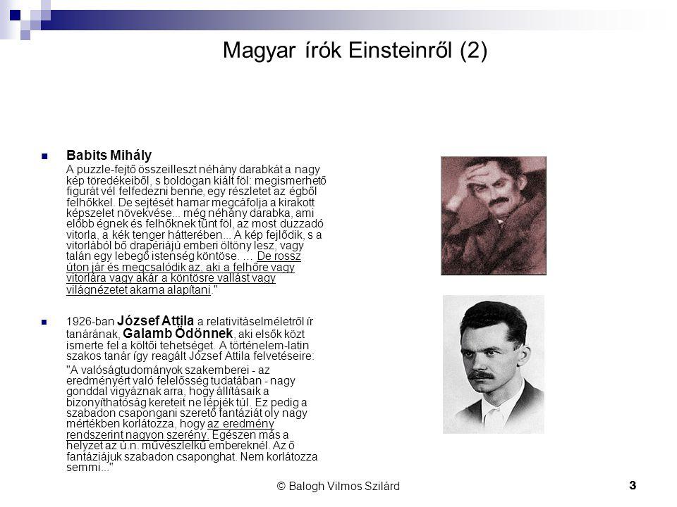 Magyar írók Einsteinről (2)