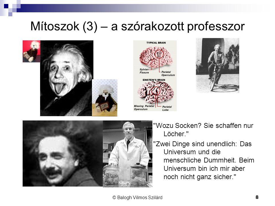 Mítoszok (3) – a szórakozott professzor