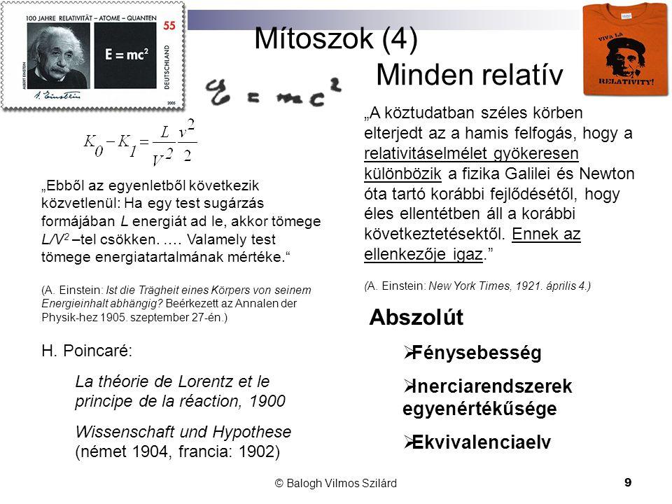 Mítoszok (4) Minden relatív