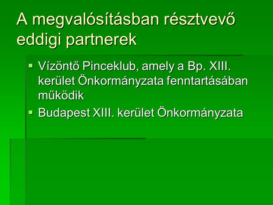 A megvalósításban résztvevő eddigi partnerek
