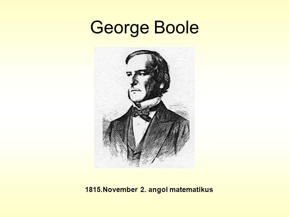 1815.November 2. angol matematikus