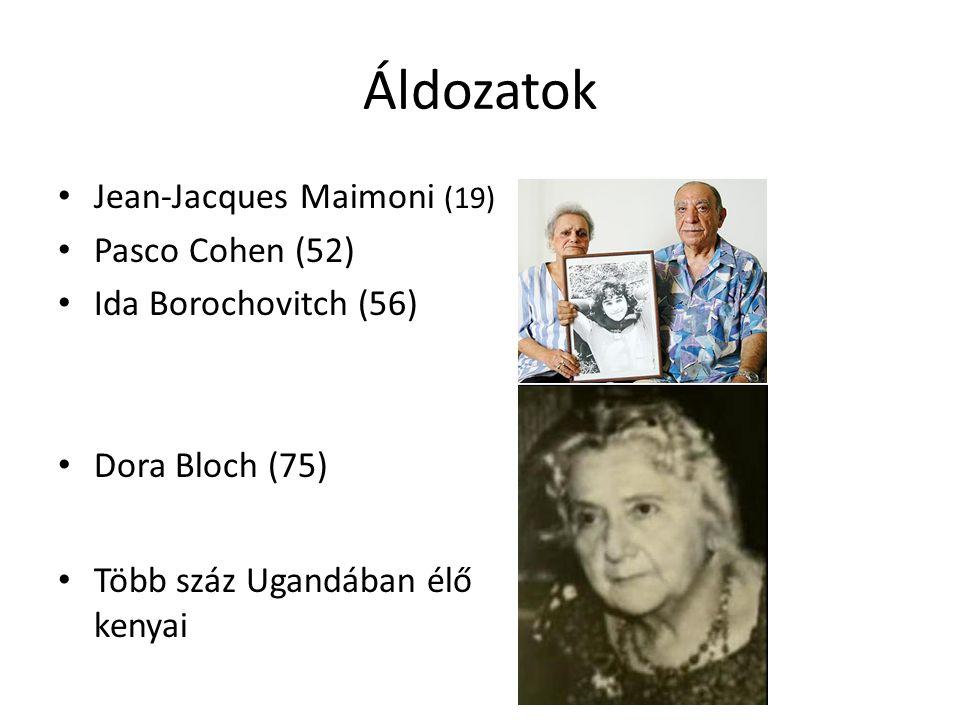 Áldozatok Jean-Jacques Maimoni (19) Pasco Cohen (52)
