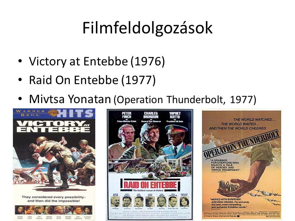 Filmfeldolgozások Victory at Entebbe (1976) Raid On Entebbe (1977)