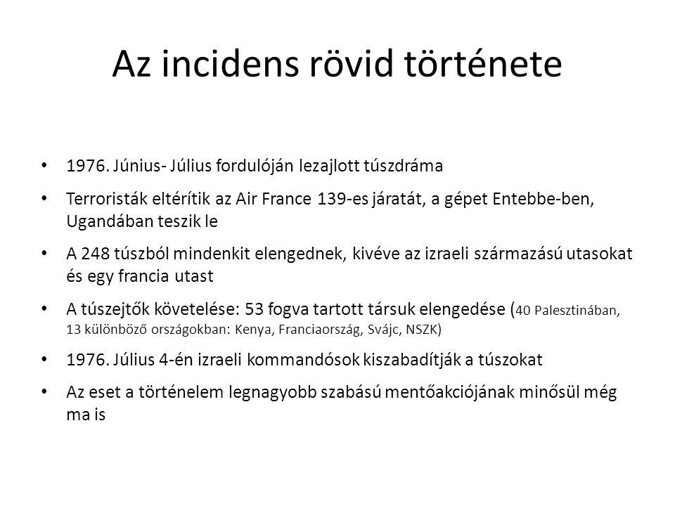 Az incidens rövid története