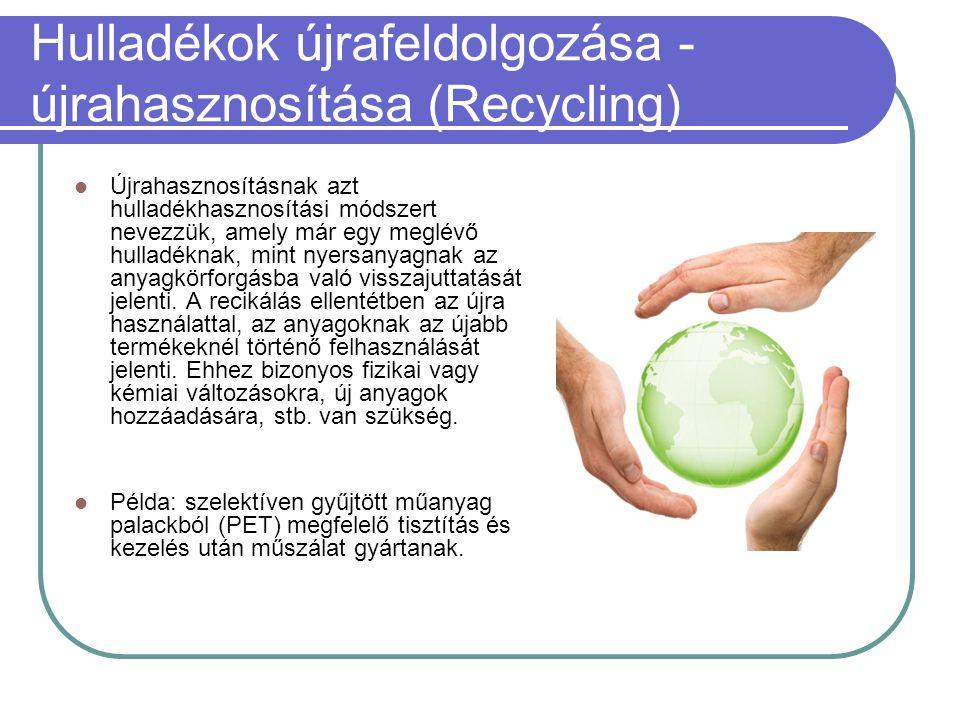 Hulladékok újrafeldolgozása - újrahasznosítása (Recycling)