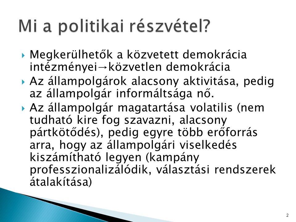Mi a politikai részvétel