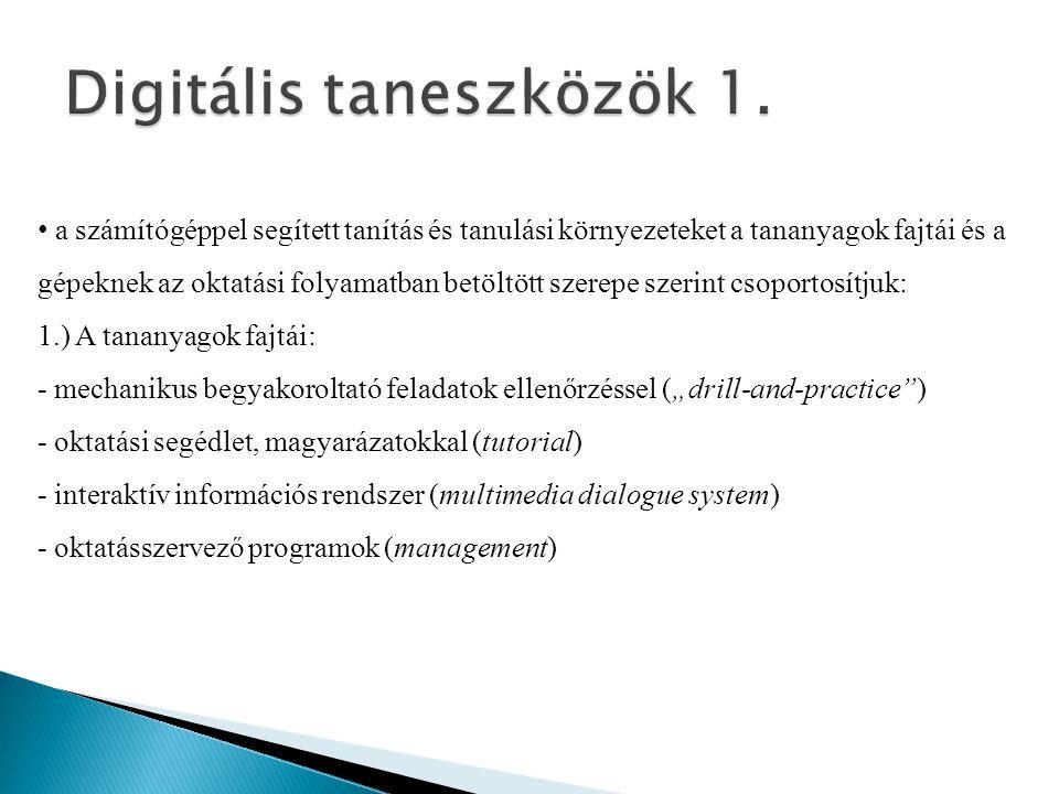 Digitális taneszközök 1.