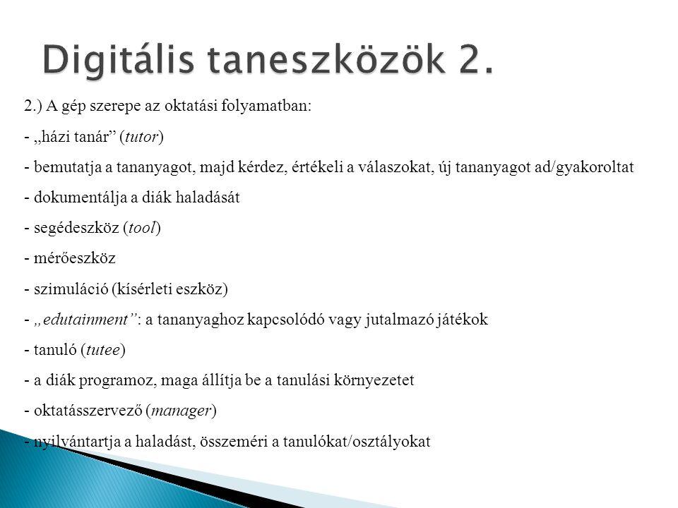 Digitális taneszközök 2.