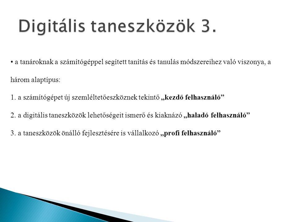 Digitális taneszközök 3.
