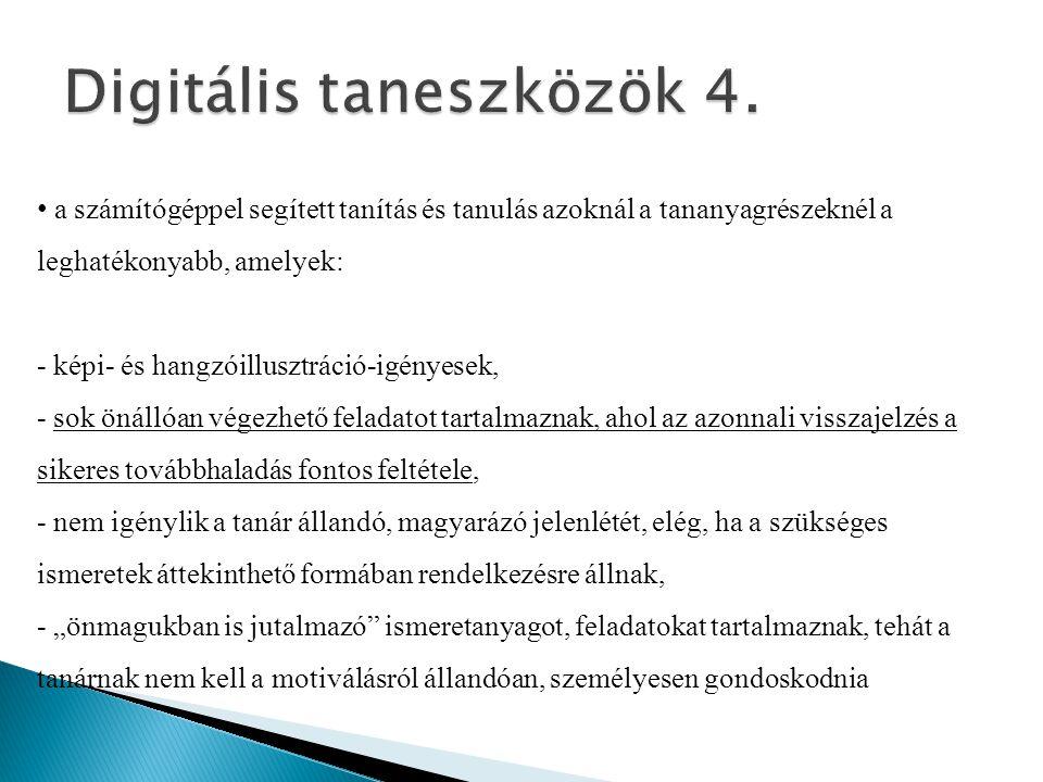 Digitális taneszközök 4.