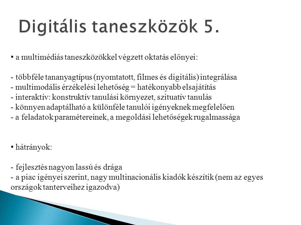 Digitális taneszközök 5.