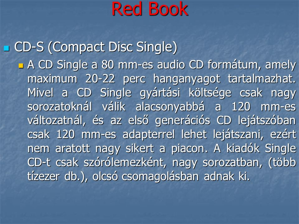 Red Book CD-S (Compact Disc Single)