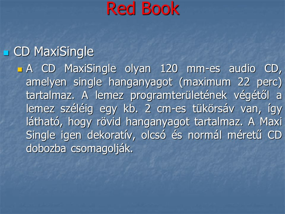 Red Book CD MaxiSingle.