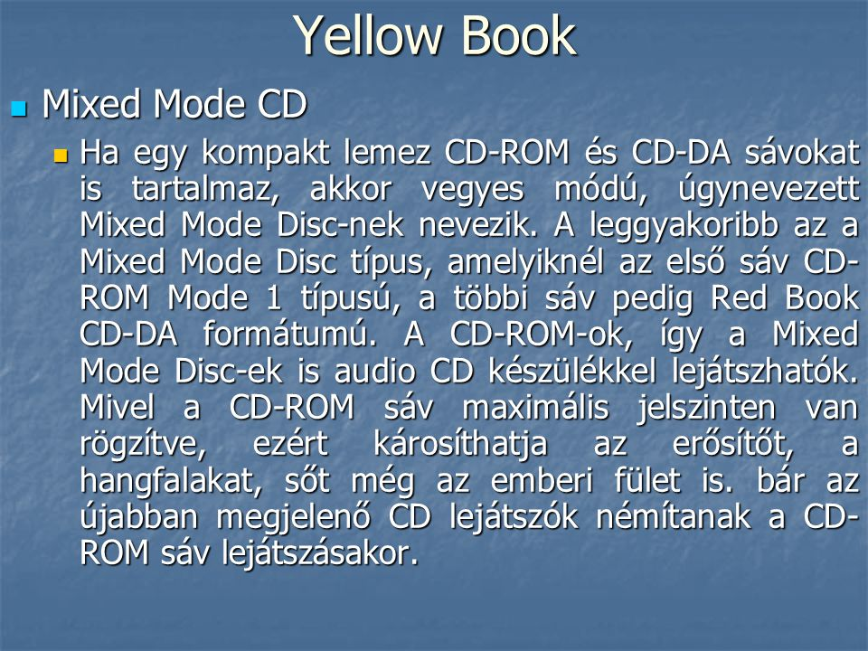 Yellow Book Mixed Mode CD