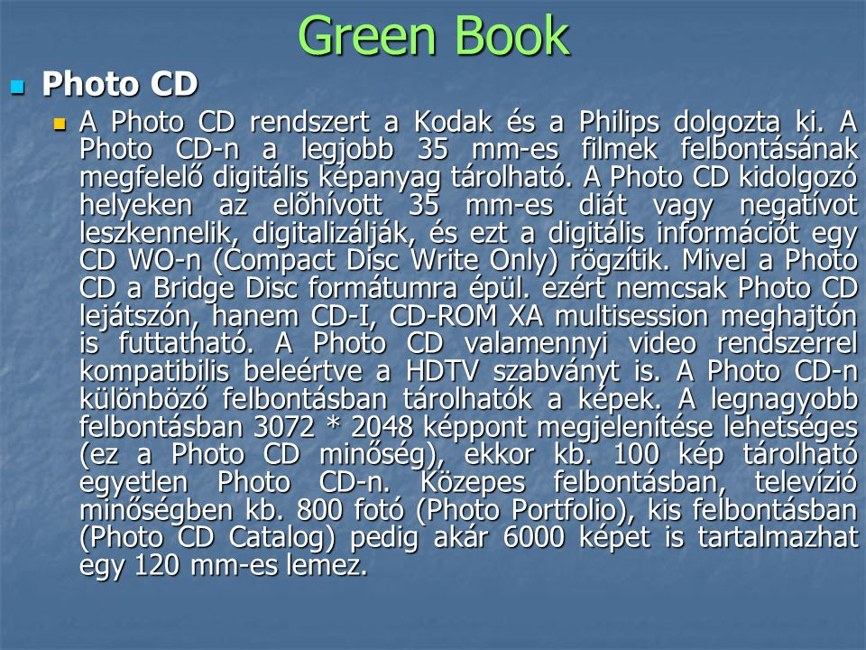 Green Book Photo CD.