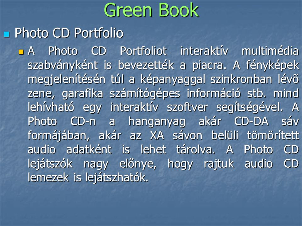 Green Book Photo CD Portfolio