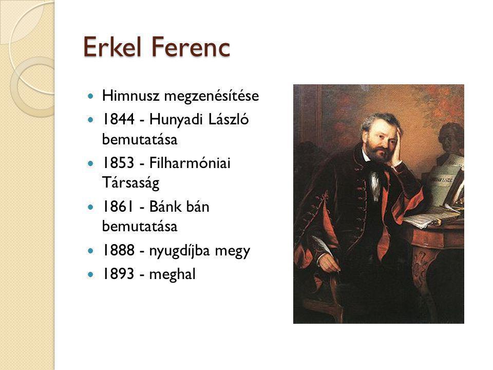 Erkel Ferenc Himnusz megzenésítése 1844 - Hunyadi László bemutatása