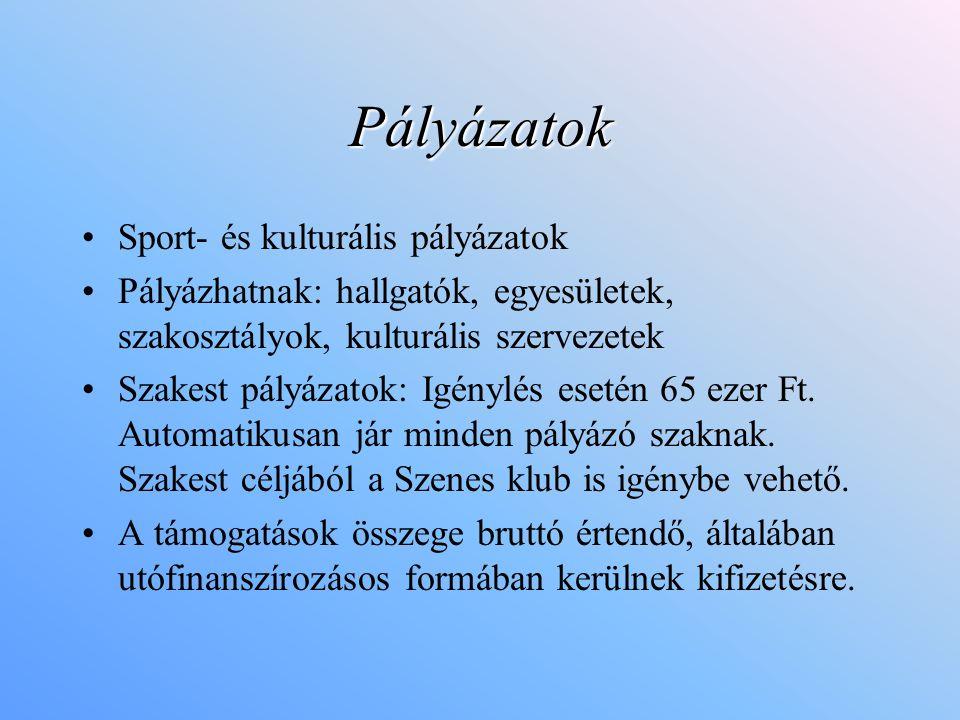 Pályázatok Sport- és kulturális pályázatok