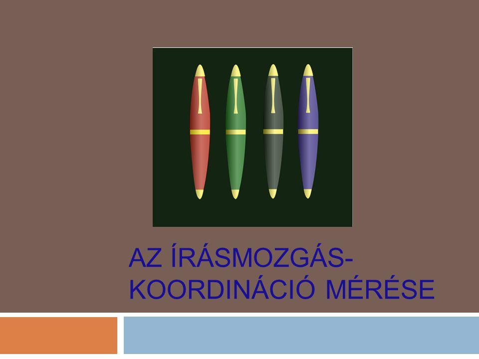 Az írásmozgás-koordináció mérése