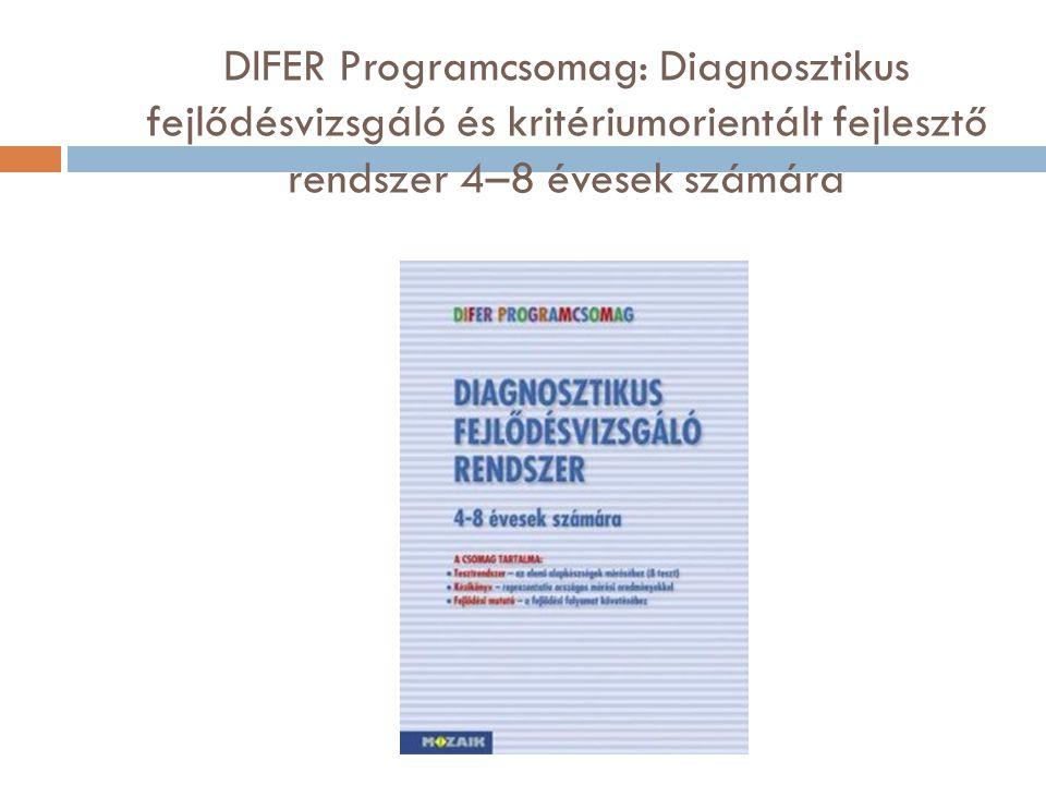 DIFER Programcsomag: Diagnosztikus fejlődésvizsgáló és kritériumorientált fejlesztő rendszer 4–8 évesek számára