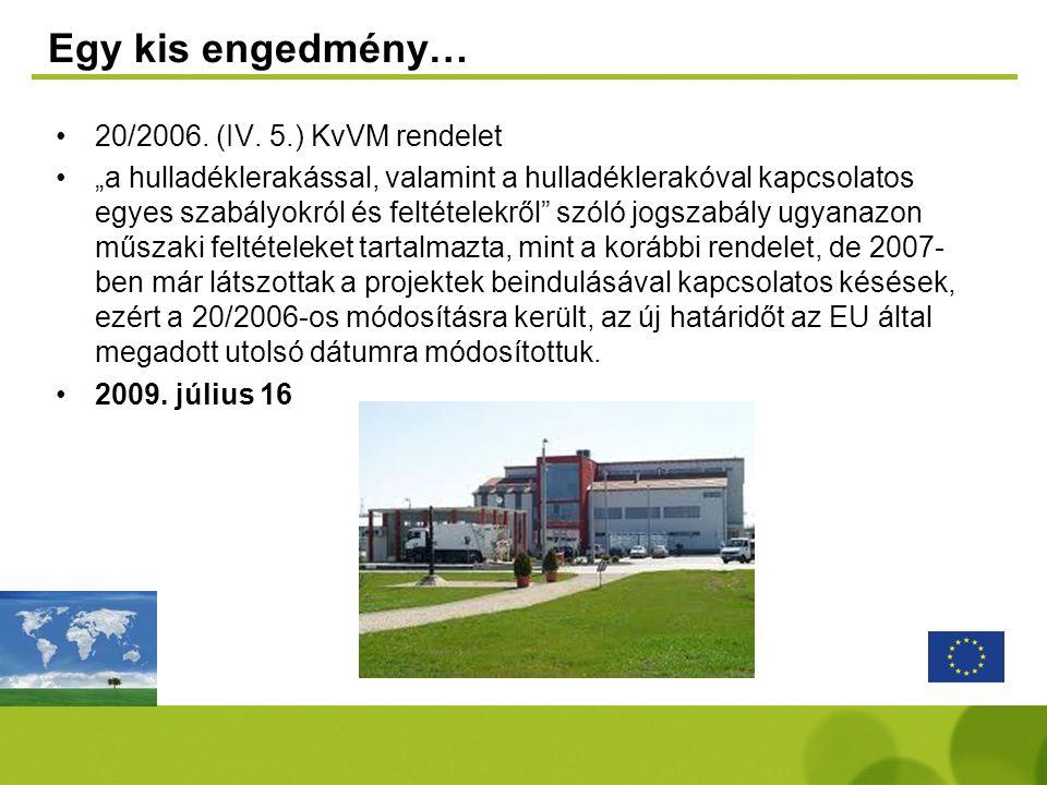 Egy kis engedmény… 20/2006. (IV. 5.) KvVM rendelet