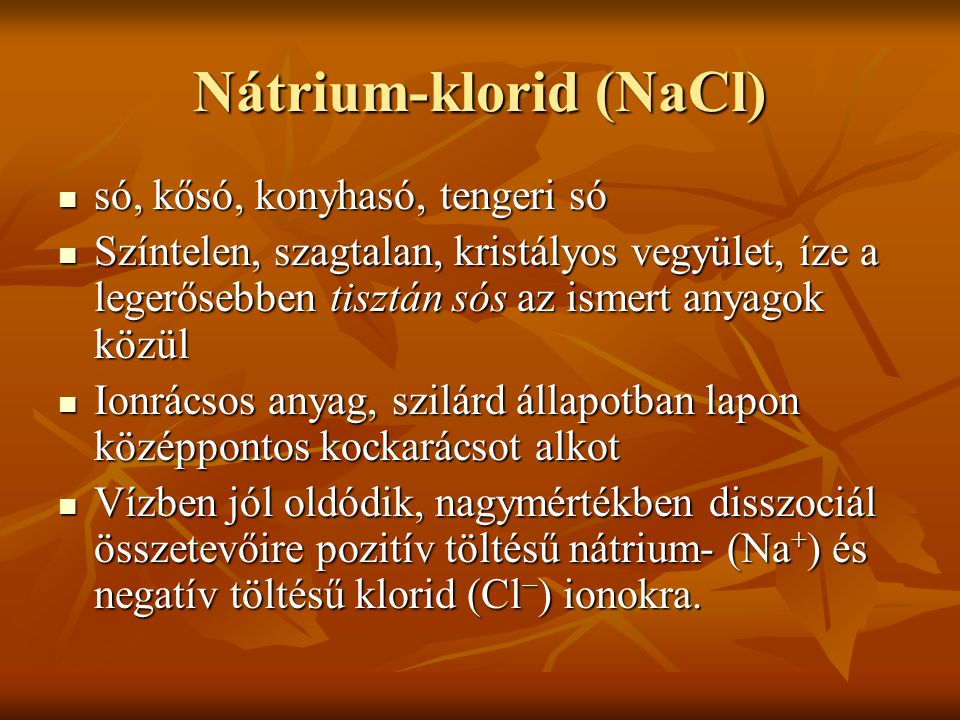 Nátrium-klorid (NaCl)