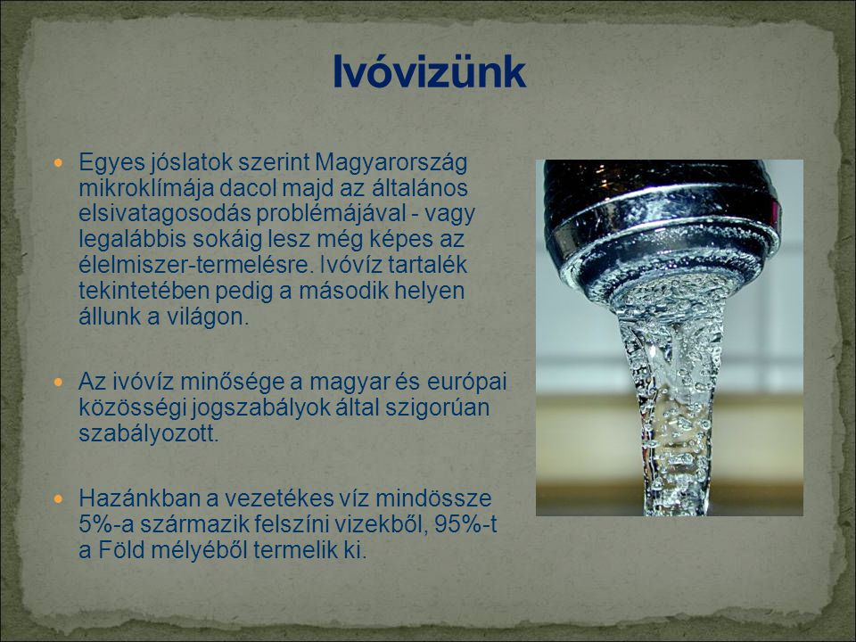 Ivóvizünk